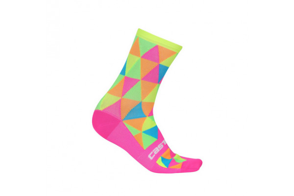 Castelli Fausto Sock - Pink