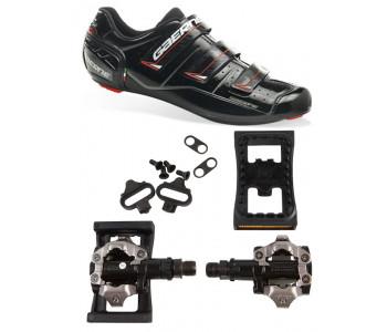 Gaerne Laser MTB-sko + Shimano 520 SPD-pedaler