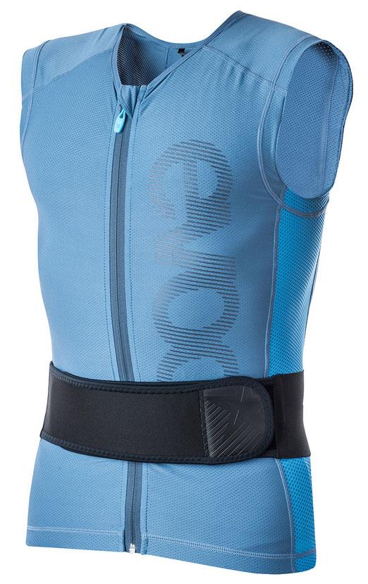 EVOC Protector Vest Lite, lys blå rygskjold med justerbar ryg   kropsbeskyttelse