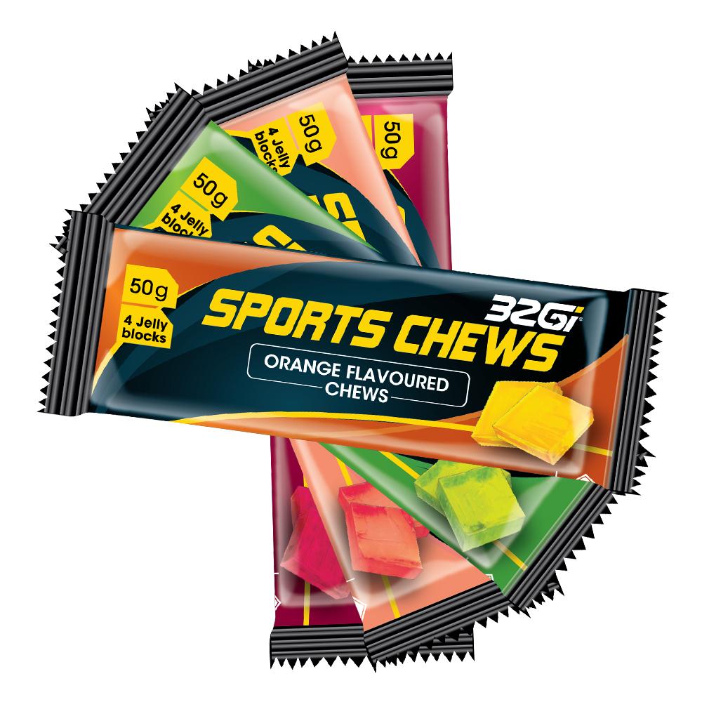 32Gi Sport Chews (vingummi)   Shots and Chews